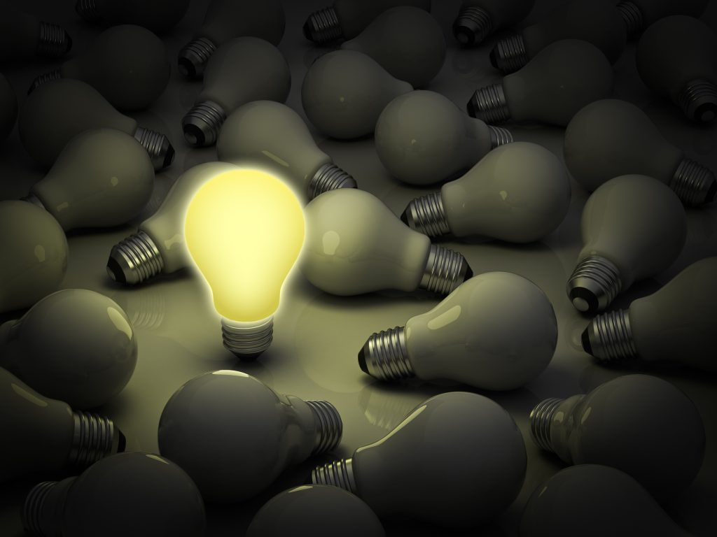 Your Leadership Brand - standing out from the crown- lightbulb